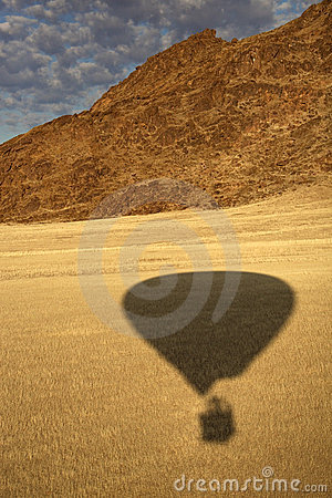Hot air balloon shadow - Namibia