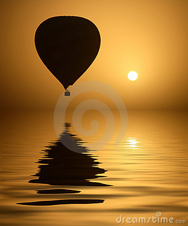 Hot Air Balloon and the Sun