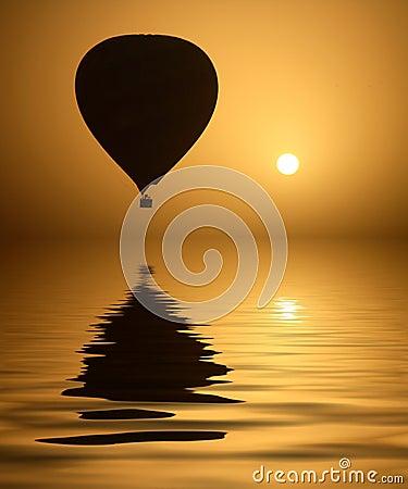 Hot Air Balloon and the Sun