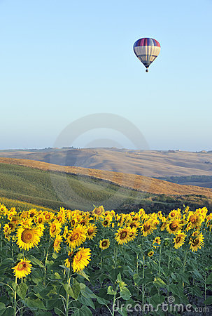 Hot-air balloon in Tuscany