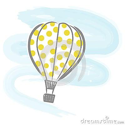 Hot-air balloon vector