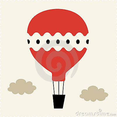 Hot-air balloon Vector Illustration