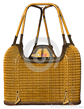 Free Hot Air Balloon Wicker Basket Gondola Isolated Stock Image - 32428241