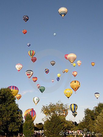 Hot Air Balloons Editorial Stock Photo