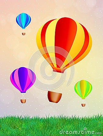 Free Hot Air Balloons Stock Photo - 32056320