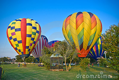 Hot Air Balloons on the Bluff Editorial Photo
