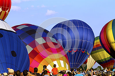 Hot air Balloons festival in Quebec Editorial Stock Photo