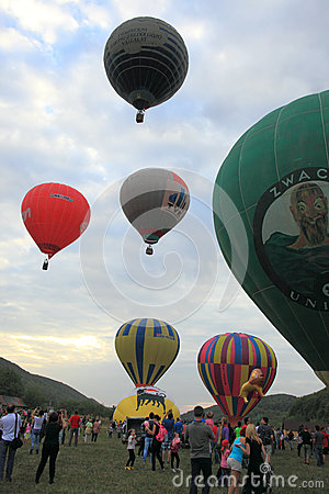 Hot air balloons in Hot Air Balloons Parade Editorial Image