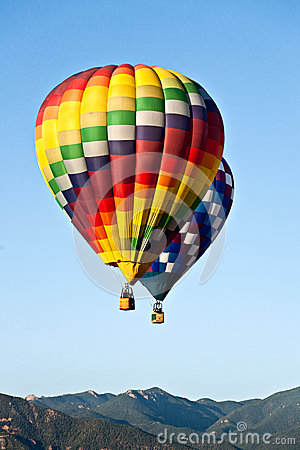 Hot Air Balloons Over Colorado Mountains