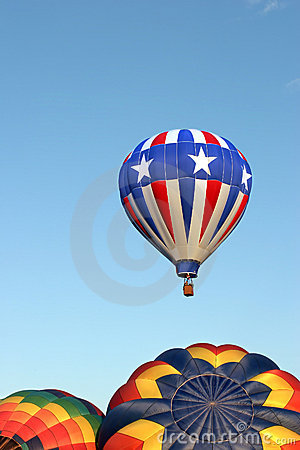 Hot air balloons - stars and stripes