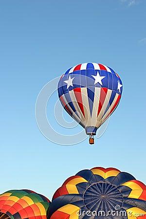 Hot air balloons - stars and stripes
