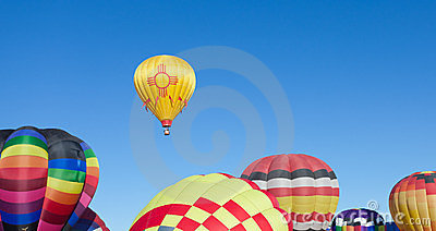 Hot Air balloons on sunny day