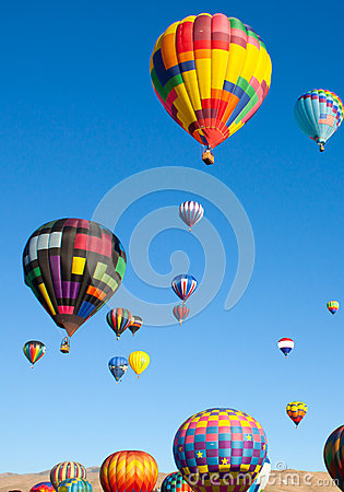 Hot Air Balloons on a Sunrise Flight