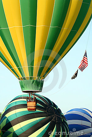 Hot Air Balloons Take Off
