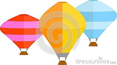 Hot Air Balloons Vector Clip Art Design Vector Illustration