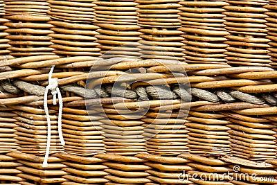 Hot air baloon basket, detail