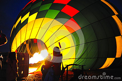 Hot air baloon burner