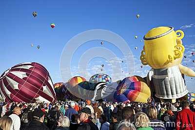 Hot Air Baloon Fiesta Editorial Photography