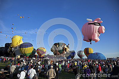 Hot Air Baloon Fiesta in Albuquerque Editorial Stock Image