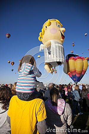 Hot Air Baloon Fiesta in Albuquerque, New Mexico Editorial Photography