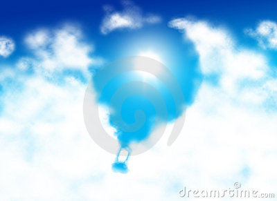 Hot air baloon shaped cloud