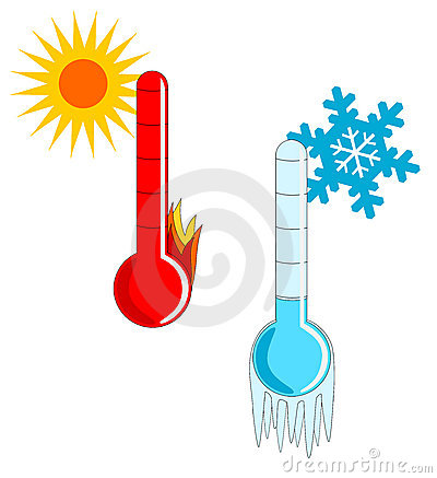Free Hot And Cold Weather Royalty Free Stock Photography - 4327917