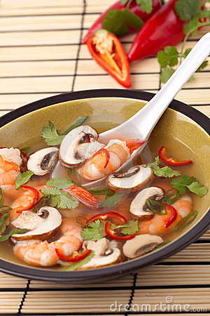 Free Hot-And-Sour Prawn Soup Stock Image - 12912881