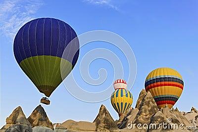 Hot ballons Cappadocia Geology