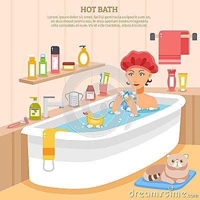 Free Hot Bath Poster Royalty Free Stock Photo - 70017995