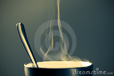 Hot beverage in a mug