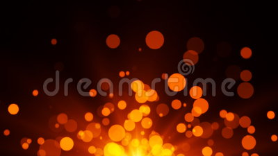 Hot Bokeh Particles stock video footage