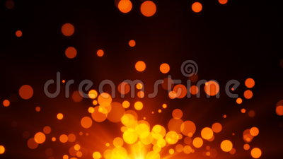 Hot Bokeh Particles stock video