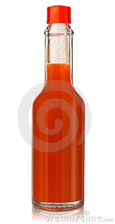 Hot chili pepper sauce Stock Photo