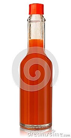 Hot chili pepper sauce Stock Photo