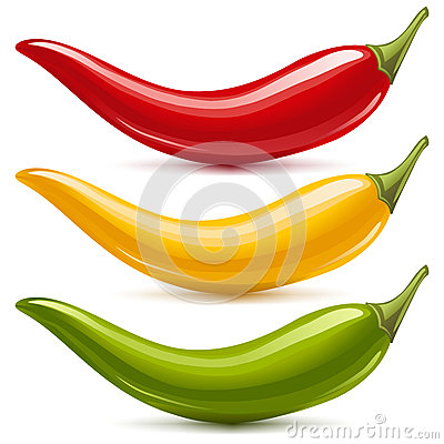 Free Hot Chilli Pepper Vector Set Stock Photo - 24631390