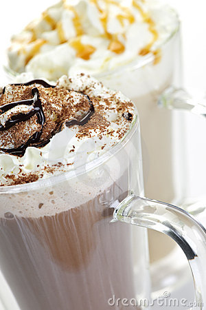 Free Hot Chocolate And Coffee Beverages Royalty Free Stock Photography - 16478437