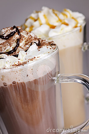Free Hot Chocolate And Coffee Beverages Royalty Free Stock Images - 16522369