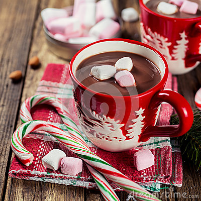 Free Hot Chocolate And Marshmallows. Stock Photography - 47781152