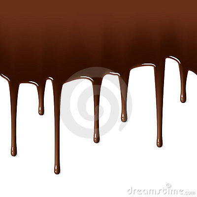 Hot chocolate drips. Seamless illustration.