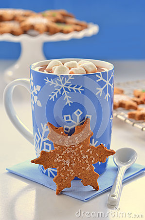 Hot chocolate and ginger cookies