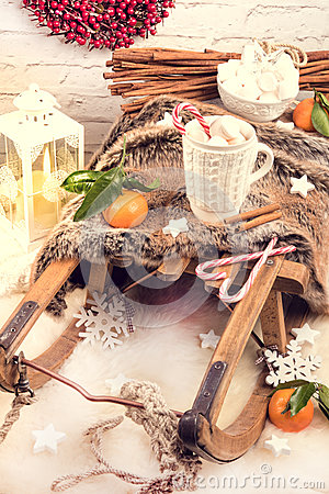 Free Hot Chocolate With Marshmallows Stock Photos - 82260723