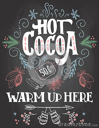 Hot Chocolate Chalkboard Signs