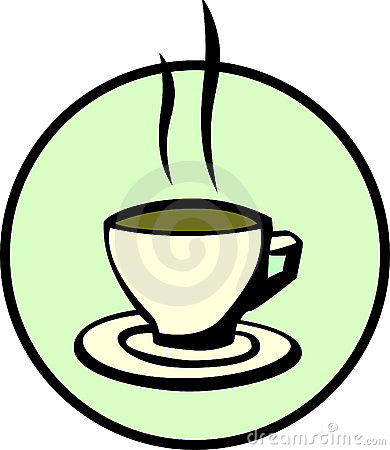 Hot coffee, chocolate or tea cup. Vector available