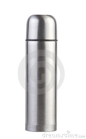 Hot and cool chrome thermos