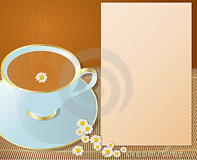 Hot cup of chamomile