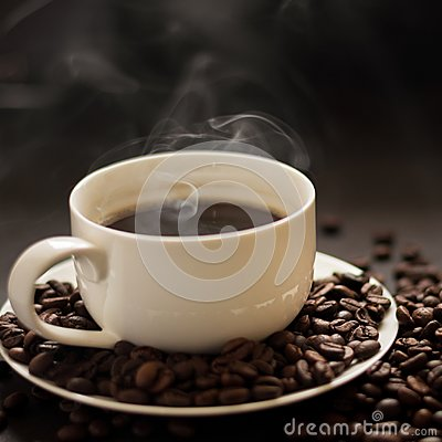 Free Hot Cup Of Coffee With Smoke Royalty Free Stock Images - 109192549