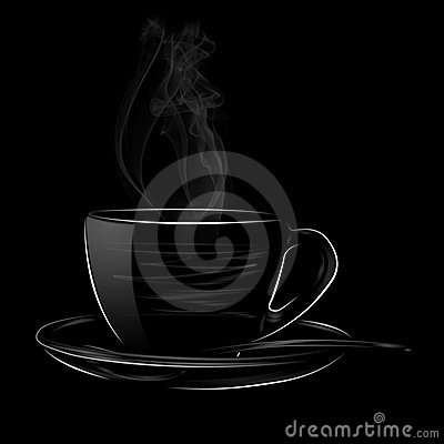 Free HOT CUP OF COFFEE WITH SPOON Royalty Free Stock Image - 14456776