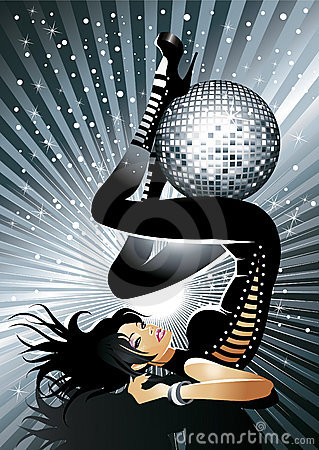 Free Hot Disco Girl Royalty Free Stock Photography - 8014897