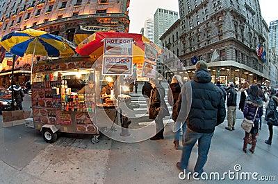 Hot dog cart Editorial Stock Photo