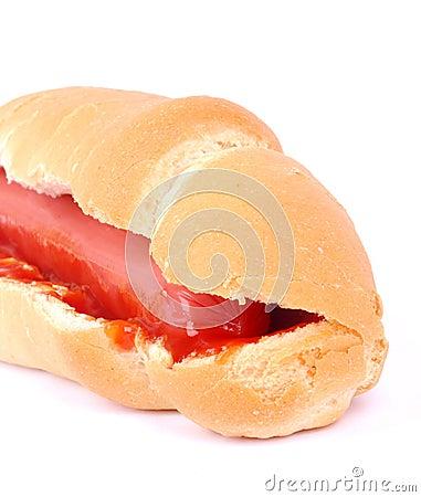 Hotdog closeup